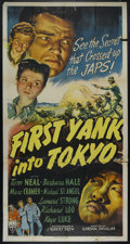 "Movie Posters:War, First Yank Into Tokyo (RKO, 1945). Three Sheet (41"" X 81""). SpyAdventure. Directed by Gordon Douglas. Starring Tom Neal, Ba..."