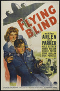"Movie Posters:Drama, Flying Blind (Paramount, 1941). One Sheet (27"" X 41""). Adventure. Directed by Frank McDonald. Starring Richard Arlen, Jean P..."