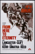 "Movie Posters:War, From Here To Eternity (Columbia, R-1970s). One Sheet (27"" X 41""). War Drama. Directed by Fred Zinnemann. Starring Burt Lanca..."