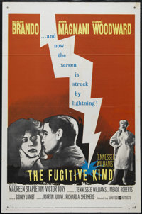 """The Fugitive Kind (United Artists, 1960). One Sheet (27"""" X 41""""). Drama. Directed by Sidney Lumet. Starring Mar..."""
