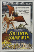 """Movie Posters:Horror, Goliath and the Vampires (AIP, 1961). One Sheet (27"""" X 41""""). Adventure. Directed by Sergio Corbucci and Giacomo Gentilomo. S..."""
