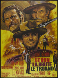 "The Good, The Bad and The Ugly (United Artists, R-1970s). French Grande (46"" X 61.5""). Western. Directed by Se..."