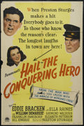 """Movie Posters:Comedy, Hail the Conquering Hero (Paramount, 1944). One Sheet (27"""" X 41""""). Comedy. Directed by Preston Sturges. Starring Eddie Brack..."""