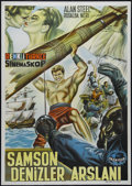 """Movie Posters:Action, Hercules and the Black Pirates (American International, 1964). Turkish Poster (27.5"""" X 39.5""""). Adventure. Directed by Luigi ..."""