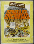 """Movie Posters:Adventure, Hercules Unchained (Warner Brothers, 1959). Poster (30"""" X 40"""").Adventure. Directed by Pietro Francisci. Starring Steve Reev..."""