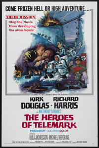 """The Heroes of Telemark (Columbia, 1966). One Sheet (27"""" X 41""""). War Drama. Directed by Anthony Mann. Starring..."""