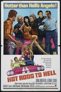 "Hot Rods to Hell (MGM, 1967). One Sheet (27"" X 41""). Action Drama. Directed by John Brahm. Starring Dana Andre..."