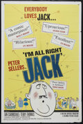 "Movie Posters:Comedy, I'm All Right, Jack (Columbia, 1960). One Sheet (27"" X 41""). Comedy. Directed by John Boulting. Starring Ian Carmichael, Pet..."