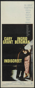 "Movie Posters:Romance, Indiscreet (Warner Brothers, 1958). Insert (14"" X 36""). Romantic Comedy. Directed by Stanley Donen. Starring Cary Grant, Ing..."