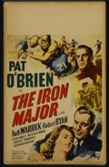 """Movie Posters:Sports, The Iron Major (RKO, 1943). Window Card (14"""" X 22""""). Biography. Directed by Ray Enright. Starring Pat O'Brien, Ruth Warrick,..."""