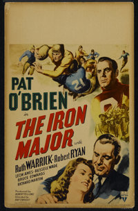 """The Iron Major (RKO, 1943). Window Card (14"""" X 22""""). Biography. Directed by Ray Enright. Starring Pat O'Brien..."""