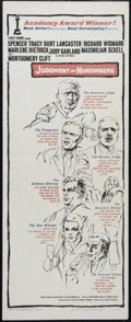 """Movie Posters:Drama, Judgment at Nuremberg (United Artists, 1960). Insert (14"""" X 36""""). Drama. Directed by Stanley Kramer. Starring Spencer Tracy,..."""