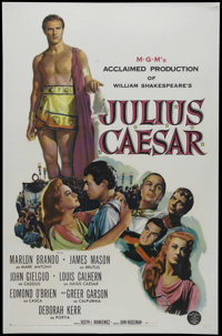 """Julius Caesar (MGM, 1953). One Sheet (27"""" X 41""""). Historical Epic. Directed by Joseph L. Mankiewicz. Starring..."""