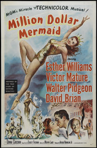"Million Dollar Mermaid (MGM, 1952). One Sheet (27"" X 41""). Romantic Drama. Directed by Mervyn LeRoy. Starring..."