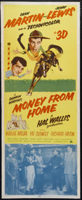 "Movie Posters:Comedy, Money From Home (Paramount, 1954). Insert (14"" X 36""). Comedy. Directed by George Marshall. Starring Dean Martin, Jerry Lewi..."