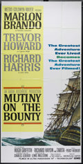 "Movie Posters:Adventure, Mutiny on the Bounty (MGM, 1962). Three Sheet (41"" X 81"").Adventure. Directed by Lewis Milestone. Starring Marlon Brando,T..."