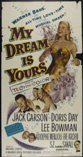 """Movie Posters:Musical, My Dream Is Yours (Warner Brothers, 1949). Three Sheet (41"""" X 81""""). Musical Romance. Directed by Michael Curtiz. Starring Do..."""