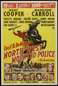 "Northwest Mounted Police (Paramount, 1940). One Sheet (27"" X 41""). Style A. Adventure. Directed by Cecil B. De..."