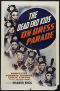 "Movie Posters:Drama, On Dress Parade (Warner Brothers, 1939). One Sheet (27"" X 41""). Comedy. Starring Billy Halop, Leo Gorcey, Huntz Hall and Bob..."