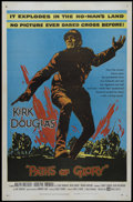 """Movie Posters:War, Paths of Glory (United Artists, 1958). One Sheet (27"""" X 41""""). War. Directed by Stanley Kubrick. Starring Kirk Douglas, Ralph..."""
