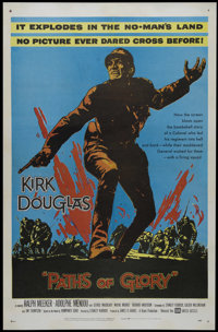 "Paths of Glory (United Artists, 1958). One Sheet (27"" X 41""). War. Directed by Stanley Kubrick. Starring Kirk..."