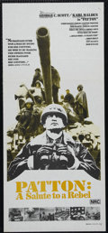 "Movie Posters:War, Patton (20th Century Fox, 1970). Australian Daybill (13"" X 30""). War. Directed by Franklin J. Schaffner. Starring George C. ..."