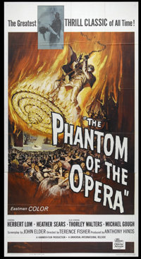 "The Phantom of the Opera (Universal, 1962). Three Sheet (41"" X 81""). Horror. Directed by Terence Fisher. Starr..."