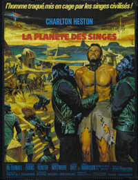 """Planet of the Apes (20th Century Fox, 1968). French Petite (23.5"""" X 31.5""""). Science Fiction. Directed by Frank..."""