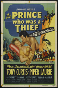 """The Prince Who Was a Thief (Universal, 1951). One Sheet (27"""" X 41""""). Adventure. Directed by Rudolph Mate. Star..."""