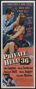 """Movie Posters:Crime, Private Hell 36 (Filmakers Releasing Organization, 1954). Insert (14"""" X 36""""). Crime Drama. Directed by Don Siegel. Starring ..."""