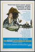 "Movie Posters:Comedy, The Private Life of Sherlock Holmes (United Artists, 1970). One Sheet (27"" X 41""). Style A. Mystery. Directed by Billy Wilde..."