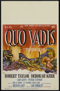 "Quo Vadis (MGM, 1951). Window Card (14"" X 22""). Drama. Directed by Mervyn LeRoy. Starring Robert Taylor, Debor..."