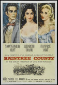 "Movie Posters:Romance, Raintree County (MGM, 1957). One Sheet (27"" X 41""). Romantic Epic. Directed by Edward Dmytryk. Starring Montgomery Clift, El..."