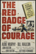 """Movie Posters:War, The Red Badge of Courage (MGM, 1951). One Sheet (27"""" X 41"""").Historical Drama. Directed by John Huston. Starring Audie Murph..."""