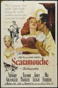"Movie Posters:Adventure, Scaramouche (MGM, 1952). One Sheet (27"" X 41""). Adventure. Directed by George Sidney. Starring Stewart Granger, Eleanor Park..."