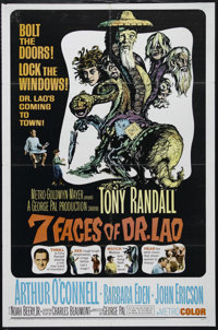 "Seven Faces of Dr. Lao (MGM, 1964). One Sheet (27"" X 41""). Fantasy. Directed by George Pal. Starring Tony Rand..."