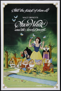 """Snow White and the Seven Dwarfs (Buena Vista, R-1983). One Sheet (27"""" X 41""""). Family. Directed by William Cott..."""