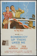 """Movie Posters:Drama, Somebody Up There Likes Me (MGM, 1956). One Sheet (27"""" X 41""""). Sports Drama. Directed by Robert Wise. Starring Paul Newman, ..."""