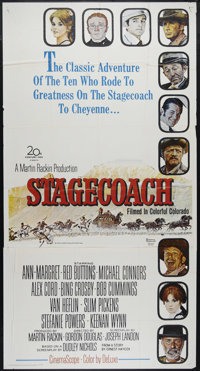 "Stagecoach (20th Century Fox, 1966). Three Sheet (41"" X 81""). Western. Directed by Gordon Douglas. Starring An..."
