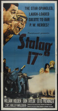 "Movie Posters:War, Stalag 17 (Paramount, 1953). Three Sheet (41"" X 81""). War. Directedby Billy Wilder. Starring William Holden, Don Taylor, Ot..."