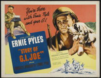 """Story of G.I. Joe (United Artists, 1945). Half Sheet (22"""" X 28""""). Style A. War. Directed by William Wellman. S..."""