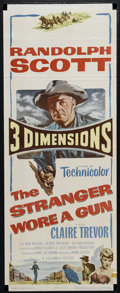 """Movie Posters:Western, The Stranger Wore a Gun (Columbia, 1953). Insert (14"""" X 36""""). Western. Directed by André De Toth. Starring Randolph Scott, C..."""