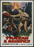 "Movie Posters:Action, Tarzan the Magnificent (Paramount, 1960). Italian 2 - Folio (39"" X 55""). Jungle Adventure. Directed by Robert Day. Starring ..."