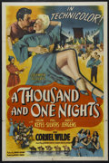 "Movie Posters:Adventure, A Thousand and One Nights (Columbia, 1945). One Sheet (27"" X 41""). Style B. Romantic Comedy. Directed by Alfred E. Green. St..."