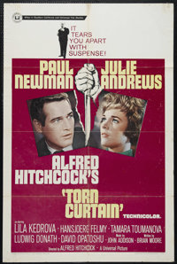 """Torn Curtain (Universal, 1966). One Sheet (27"""" X 41""""). Spy Thriller. Directed by Alfred Hitchcock. Starring Pa..."""