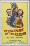 "Movie Posters:Adventure, To the Ends of the Earth (Columbia, R-1956). One Sheet (27"" X 41"").Crime. Directed by Robert Stevenson. Starring Dick Powel..."