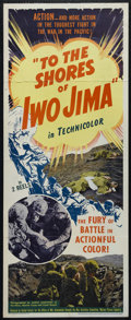 "Movie Posters:Documentary, To the Shores of Iwo Jima (United Artists, 1945). Insert (14"" X 36""). Documentary. Keywords: assault, battle, military, war...."