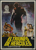 "Movie Posters:Action, The Triumph of Hercules (John Alexander, 1965). Mexican One Sheet(27"" X 41""). Adventure. Directed by Alberto De Martino. St..."