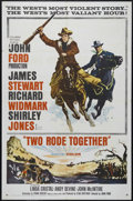 "Movie Posters:Western, Two Rode Together (Columbia, 1961). One Sheet (27"" X 41""). Western. Directed by John Ford. Starring Richard Widmark, James S..."