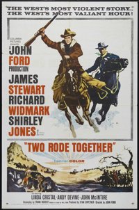 """Two Rode Together (Columbia, 1961). One Sheet (27"""" X 41""""). Western. Directed by John Ford. Starring Richard Wi..."""